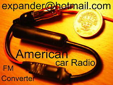 USA FM Converter for American Honda Goldwing Motorcycle Radio to work in EUROPE