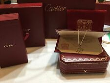 Authentic Cartier   18k solid yellow gold diamond  panthere pendant and chain