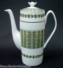Vintage 1960's Spode Provence Y7843 Pattern 2 Pint Coffee Pot & Lid 23cmh in VGC