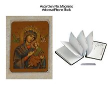 Accordion Flat Address/Phone Book-Virgin Mary