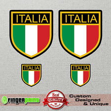 ITALY decal vinyl sticker italia antique retro car vespa lambretta shield flag