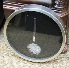 """METAL 14"""" DIAMETER BLACK CONTEMPORARY WALL SMALL CIRCLE OF MOVING GEARS 42828"""
