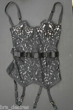 Victoria's Secret Satin & Lace Corset Very Sexy 34B Black