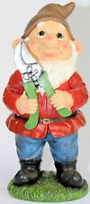 GARDEN GNOME NAUGHTY Gnome Trimming Garden with Prune Cutters 32 cm Really Cute
