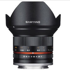 Samyang 12mm F2.0 NCS CS Nano MC APSC Angle Lens For MFT -Black