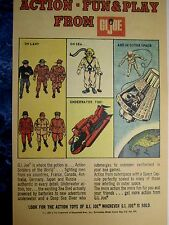 1960's G I JOE ACTION TOYS Store Color Sign/Ad