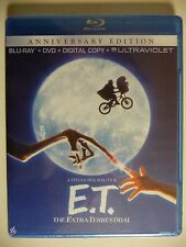 NEW/SEALED - E.T. The Extra-Terrestrial (Blu-ray/DVD, 2012, 2-Disc Set w/ UV