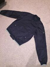 Mens Prada Black Bomber Jacket Size 50 Medium Large Windbreaker RRP £600