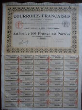 ACTION / COURROIES FRANCAISES / INDECHIRABLE GRIMSON 1905 LYON ACTION 100 FRANCS