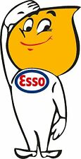 Esso Oil Drip Boy Saluting - Classic Gas Petrol Retro Car Stickers Decals x 2