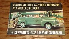 1948 Chevrolet Trucks Suburban Carryall Models Foldout Sales Brochure 48 Chevy