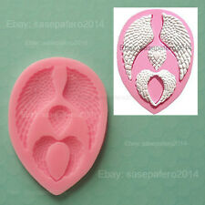 Angel Wings silicone mold, 2 cavities for fondant, chocolate, resins