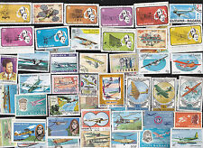 50 ALL DIFFERENT VINTAGE AIR PLANES ON  STAMPS