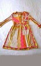 Vtg 60s 70s - EMILIO PUCCI - Iconic Signature Print Couture - Mod Midi Dress