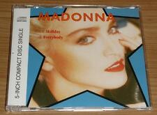 MADONNA Holiday / Everybody GERMAN 2 TRACK CD SINGLE 7599-21140-2 MINT!!