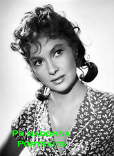 GINA LOLLOBRIGIDA 8x10 Lab Photo SEXY Pigtails Busty Adorable Glamour Portrait