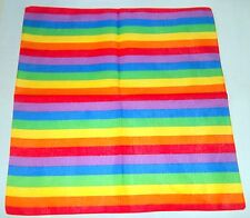 Rainbow Bright Gay Pride Scarf Bandanna Bandana Neck Head Wear Fancy Dress