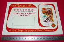 BUVARD CLUB ROUGE ET OR LITTERATURE JEUNESSE LIVRE CONCOURS H. DIMPRE 1950-1960