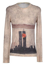 BANKSY + Cashmere + Silk + Wool = PRINTED ARTWORKS Sweater Medium NEW Italy