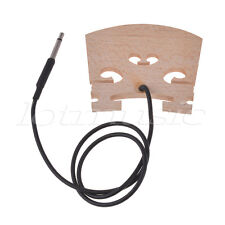 Electric Violin Bridge With Internally Piezo Pickup for 4/4 Violin Bridge Parts