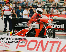 HARLEY-DAVIDSON PRO STOCK BIKE LORI FRANCIS 8X10 PHOTO NHRA SCREAMIN EAGLE