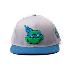 AWESOME TEENAGE MUTANT NINJA TURTLES LEONARDO FACE GREY SNAPBACK CAP HAT *NEW*