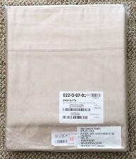 The Company Store Feather Tan 600 TC Sateen Solid Flat Sheet Queen Size E4Q1