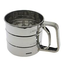 Stainless Steel Flour Sugar Icing Mesh Sifter Shaker Sieve Baking Kitchen Tool