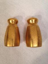 PICKARD PLAIN ENCRUSTED GOLD MINIATURE SALT & PEPPER SHAKER SET #32