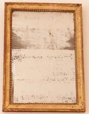 Glace XVIII ème En Bois Doré, Miroir Au Mercure, époque Louis XVI