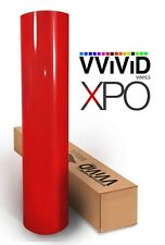 VViViD Gloss texture Red Car Wrap Vinyl 5ft x 5ft Roll 3mil sticker Auto decal