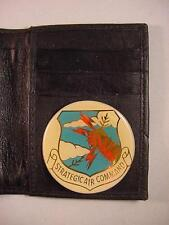 SAC STRATEGIC AIR COMMAND BLACK LEATHER BIFOLD CREDIT CARD WALLET ID NEW