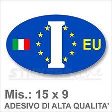 Adesivo I ITALIA EUROPEO I di Identificazione Nazione Residenza per Auto europa