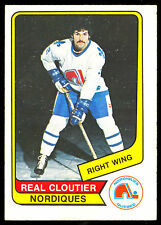 1976 77 OPC O PEE CHEE WHA #76 REAL CLOUTIER EX-NM QUEBEC NORDIQUES HOCKEY CARD