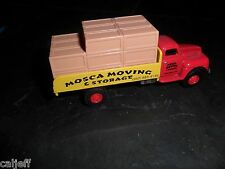 """Golden Wheels  1950s Ford Chassis w/Van Body """"Mosca Moving & Storage"""" H.O.Gauge"""