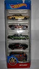 HOTWHEELS HW FLAMES CARS 5 PACK CHEVY CAMARO SHELBY GT500 DODGE VAN HOT WHEELS
