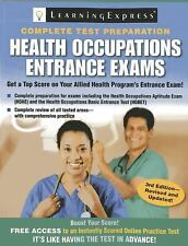 NEW Health Occupations Entrance Exams by LearningExpress LLC Paperback Book (Eng