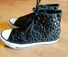 CONVERSE All Star Chuck Taylor Studded Hi Tops Black Women's Sneakers Size 7