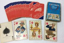 Victory Playing Cards Arrco Vtg World War II Pinochle Deck Navy Army