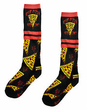 Unisex EAT PIZZA OR DIE Pentagram Rad Socks Calf Length Sport Stripe Witch Rock