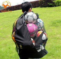 Football Netball Rugby Basketball Soccer 20 Ball Carry Sack Hold Bag Net XW