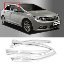 Chrome Window Sun Vent Visor Rain Deflector Guards C521 For HONDA 2011-15 Civic