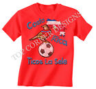 Costa Rica Football Mascot World Cup Brazil Boys/Girls T-Shirt Childrens T241