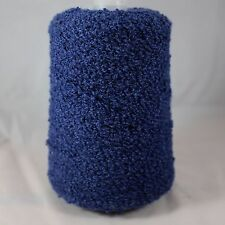 100% Pure Mongolian Cashmere Boucle Yarn Cone Lot Dark Blue DK Worsted wt