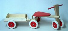 Bois Roller Assise Coulissante Tricycle Draisienne Scooter avec Remorque