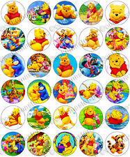 30 x Winnie the Pooh Party Collection Edible Rice Wafer Paper Cupcake Toppers