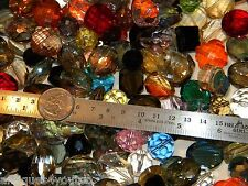 NEW Jesse James 10-22mm XL Size 20/pcs Lot Crystal FACETED GLASS Beads