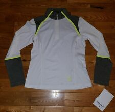 NWT Womens White SPYDER York Therma Stretch T-Neck Jacket Size 16/XL