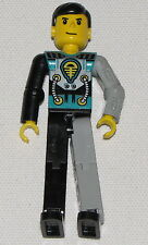 LEGO TECHNIC FIGURE MECHANICAL ARM TURQUOISE RACE CAR DRIVER MINIFIG PERSON