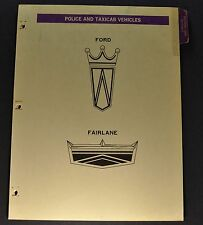 1967 Ford Police Car & Taxi Data Book Section Brochure Custom 500 Fairlane Orig